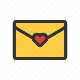 favorite mail, love greeting, love letter, wedding invitation icon