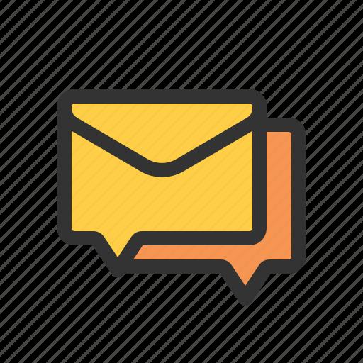 conversation, forum, mail, mailing list icon