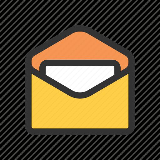 letter, mail, open, unread icon