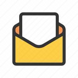 blank, draft, mail, read icon