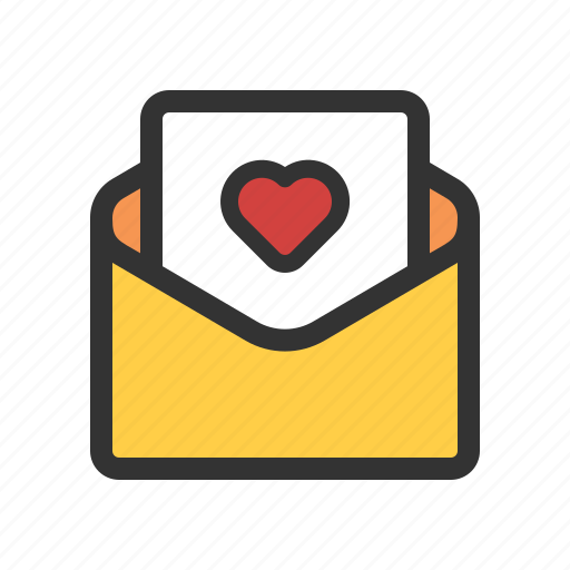 favorite mail, love greeting, love letter, wedding invitation icon