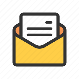 draft, letter, mail, read icon