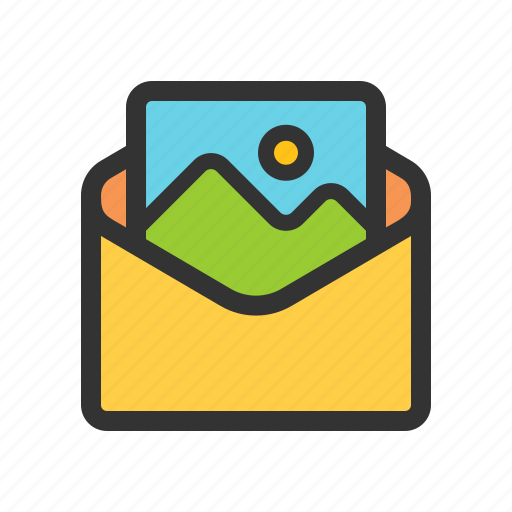 mail, multimedia, photo, picture icon