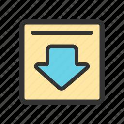 archieve, download, mail, restore icon