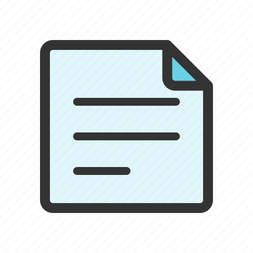document, draft, file, letter icon