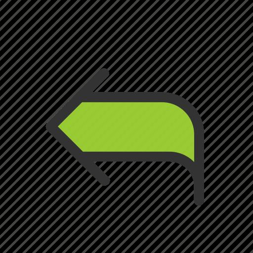 answer, arrow, reply, response icon