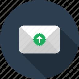 backup, email, envelope, letter, mail, upload icon