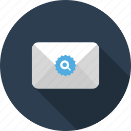 email, envelope, find, letter, mail, search, sort icon