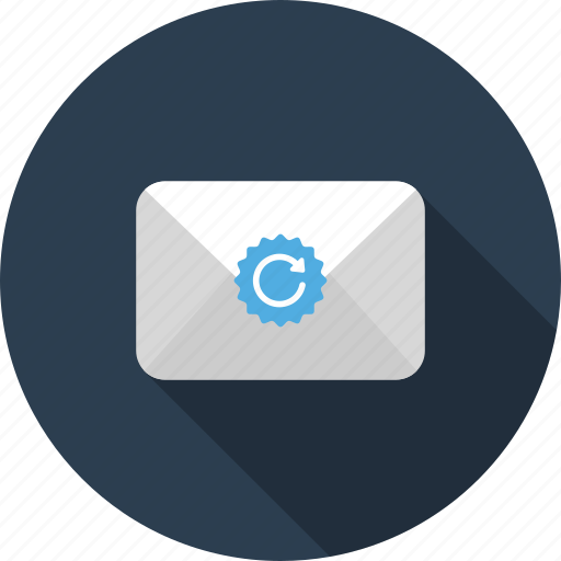 email, envelope, letter, mail, refresh, reload icon