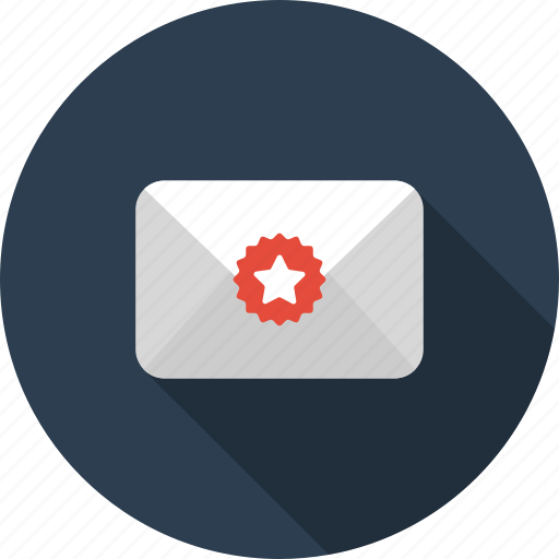 envelope, labeled, letter, mail, starred icon