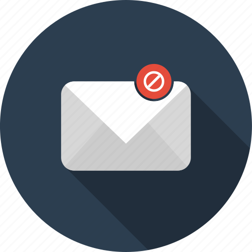 block, cancel, email, envelope, filter, mail icon