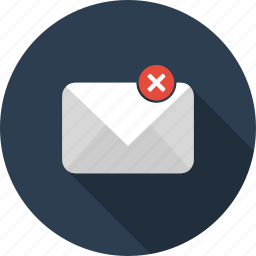 discard, email, envelope, letter, mail icon