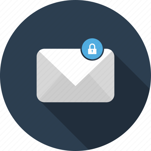 email, encrypted, envelope, letter, mail icon