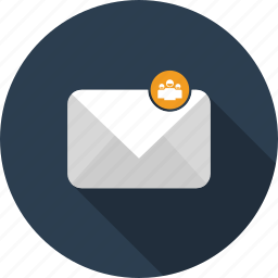 email, envelope, group, letter, mail icon