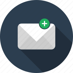 add, email, envelope, mail, new, plus icon