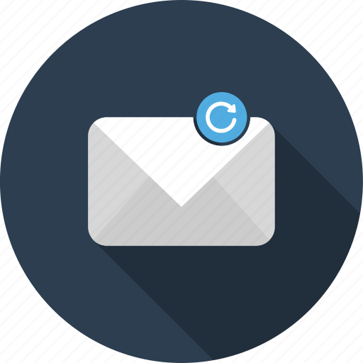 email, envelope, letter, mail, refresh, reload, sync icon