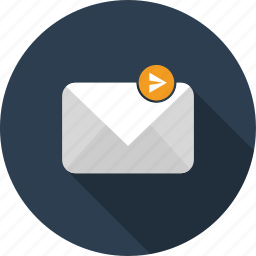 email, envelope, letter, mail, post, send icon