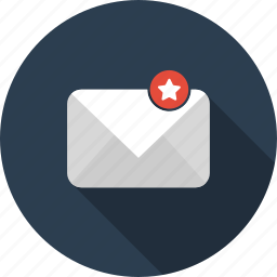 email, envelope, final, letter, mail, starred icon