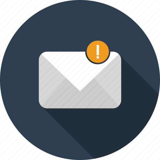 email, envelope, harm, letter, mail, sign, warning icon