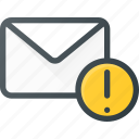 attention, email, envelope, mail, message icon
