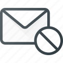 delete, dismiss, email, envelope, mail, message icon
