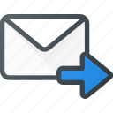 email, envelope, forward, mail, message icon