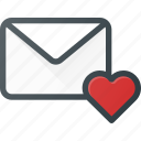 email, envelope, love, mail, message icon