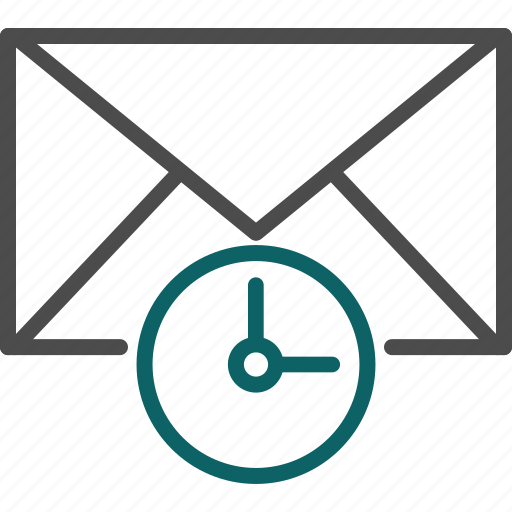 clock, email planning, schedule, time icon