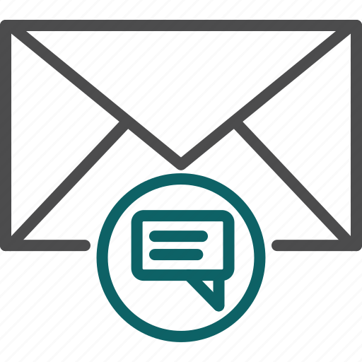 chat, discussion, email discussion, letter icon