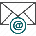 arobase, email, envelope, letter, message icon