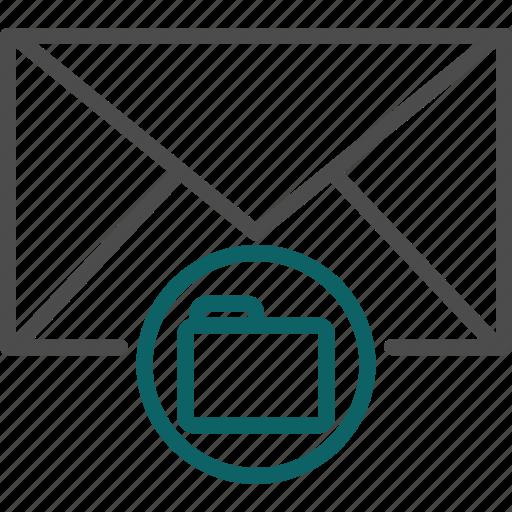document, email folder, folder, messages folder icon