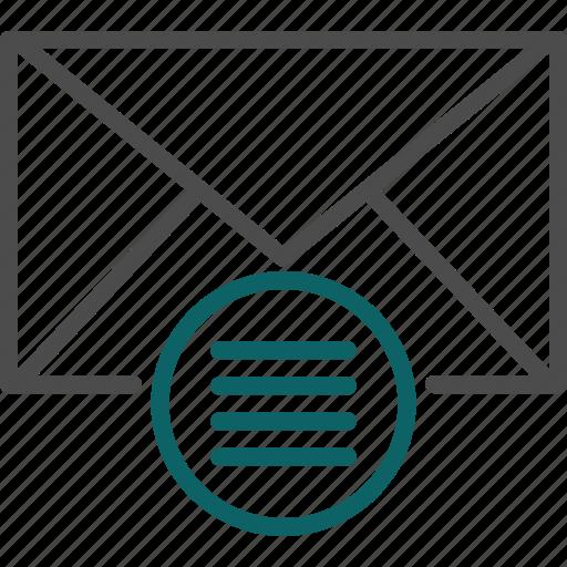 email list, email menu, list, menu, preferences, setup icon