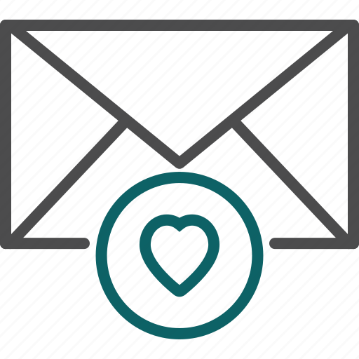 favourite, favourite email, heart, love icon