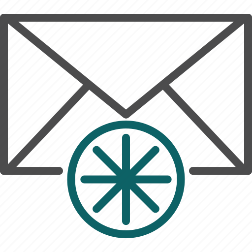 asterisk, new, new email, new letter, newsletter icon