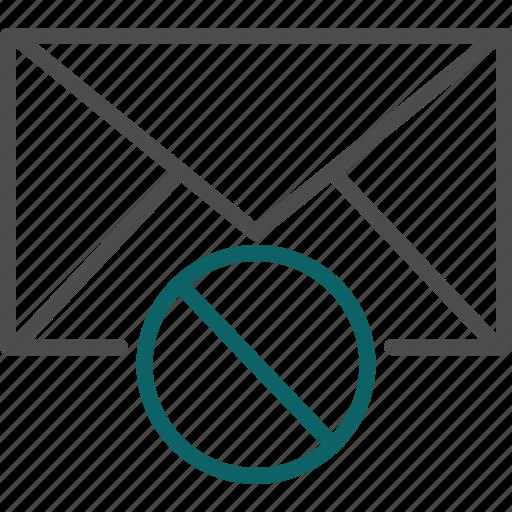 danger, dangerous email, dangerous letter, forbidden, not allowed icon