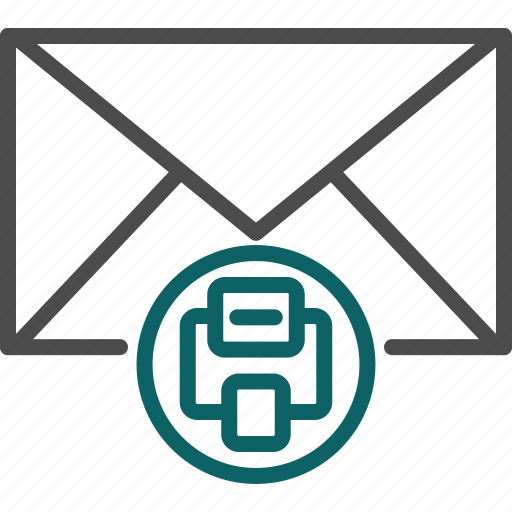 print, print email, print letter, print message, printer icon