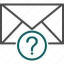 email help, help, question, question mark icon
