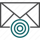 goal, target, target emails, target user icon