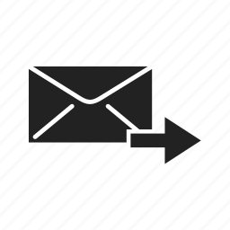 arrow, email, empty, forward, inbox, mail, message icon
