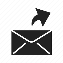 arrow, email, empty, envelope, inbox, mail, message, upload icon