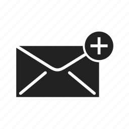 add, email, envelope, fast, internet, letter, mail, message, network, news, plus, send, sending, subscribe icon