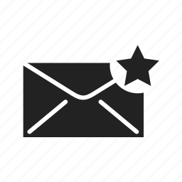 email, envelope, fast, internet, letter, mail, message, network, news, send, sending, star, subscribe icon