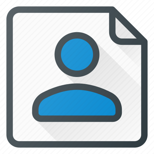 business, contact, info, paper, person, user icon