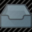 document, empty, inbox, set icon
