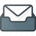document, email, envelope, inbox, mail, set icon