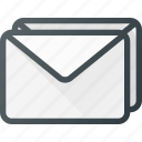 email, envelope, mail, message, newsletter, stack icon