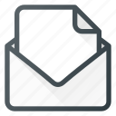 attache, document, email, mail, send icon