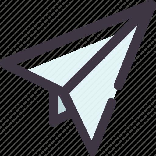 paper, plane, send, telegram icon