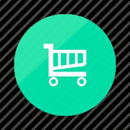 buy, cart, emerald, gradient, half, shop, store icon