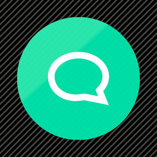 comments, conversation, emerald, gradient, half, talk, text icon